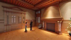 Illustration d'un intérieur 3D